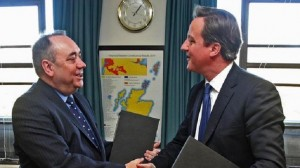 Alex Salmond and David Cameron signed the Edinburgh Agreement last year