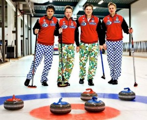 Picture of elegance Norway's curling team