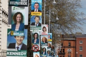 Euro Election Posters in Dublin