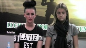 Video footage released by police in Peru shows Melissa Reid and Michaella McCollum being questioned about alleged drug trafficking