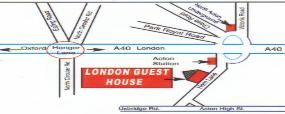 Map London Guest House in Acton, West London, Greater London