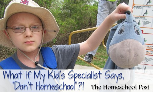 "What if my kid's special says, ""Don't Homeschool"" ?"