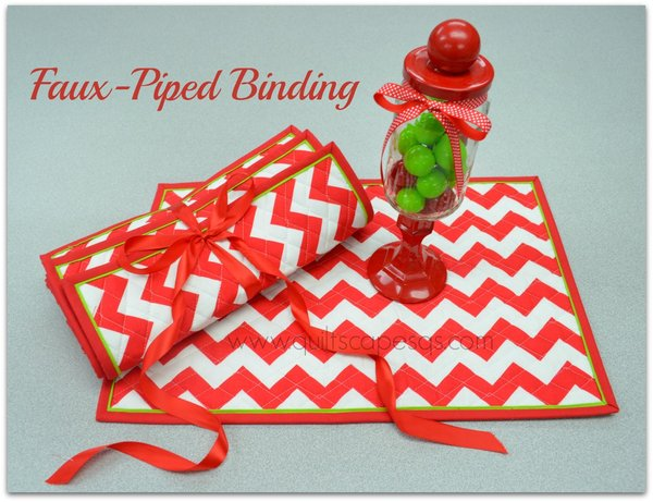 Faux-Piped Binding