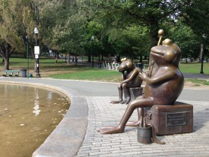 The Frog pond in Boston Common