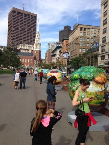 """Cool Globes"" along Boston Common"