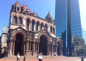 The Trinity Church at Copley Square, and some of The Hancock Building