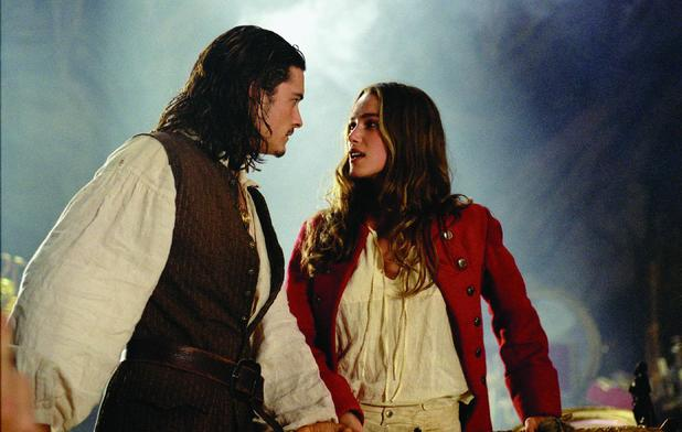 Orlando Bloom & Keira Knightley in 'Pirates of the Caribbean: The Curse of the Black Pearl'