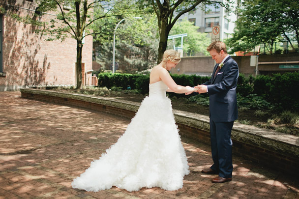 -first look jaime delaine vancouver wedding