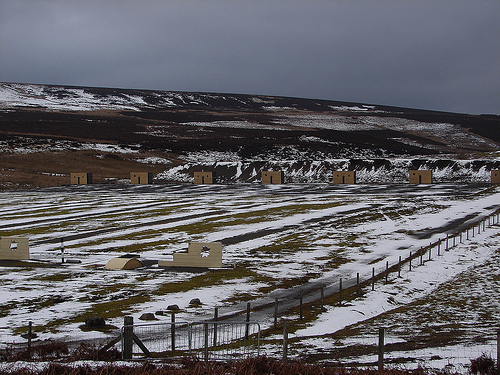 The Bellerby Ranges above Leyburn, before my first night at the Dales Bike Centre, Reeth