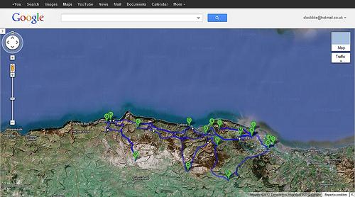 Google Maps Minehead to Lynmouth