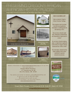 oregonblackpioneers state historic preservation