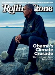 Barack Obama on the cover of Rolling Stone