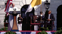 Pope Francis delivers message at White House