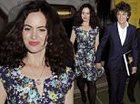 ronnie wood and wife sally at pele¿s exebition in bond street 24/9/2015 blitz pictures