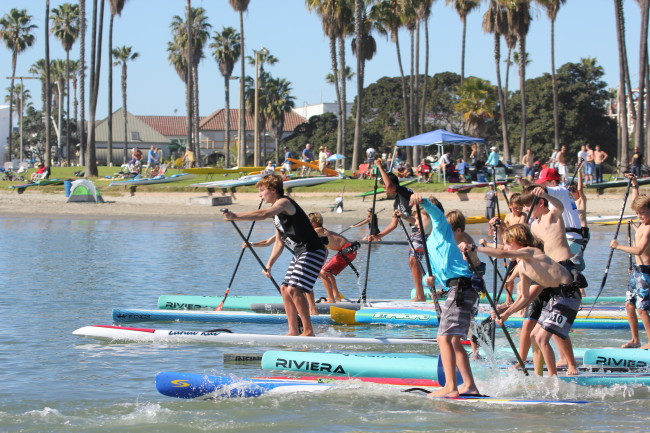 kids sup racing