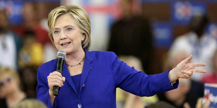 Democratic presidential candidate Hillary Clinton, shown speaking at a community forum in Iowa on Tuesday, said Sunday that she relied on her attorneys to determine which of her emails related to work and which were personal before turning them over to the State Department.
