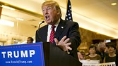 Republican presidential hopeful Donald Trump announces his tax plan during a press conference at Trump Tower in New York on September 28, 2015. AFP PHOTO/DOMINICK REUTERDOMINICK REUTER/AFP/Getty Images