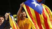 Pro-independence supporters celebrate in Barcelona after Catalan leader Artur Mas claimed a historic election victory