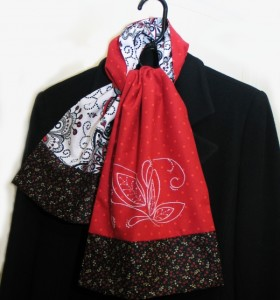 Embroidered Scarf - Free Embroidery Pattern