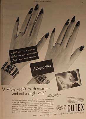 40s cutex advertisements