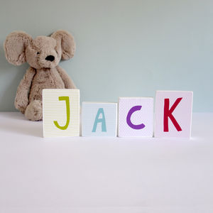 Colourful Wooden Name Blocks
