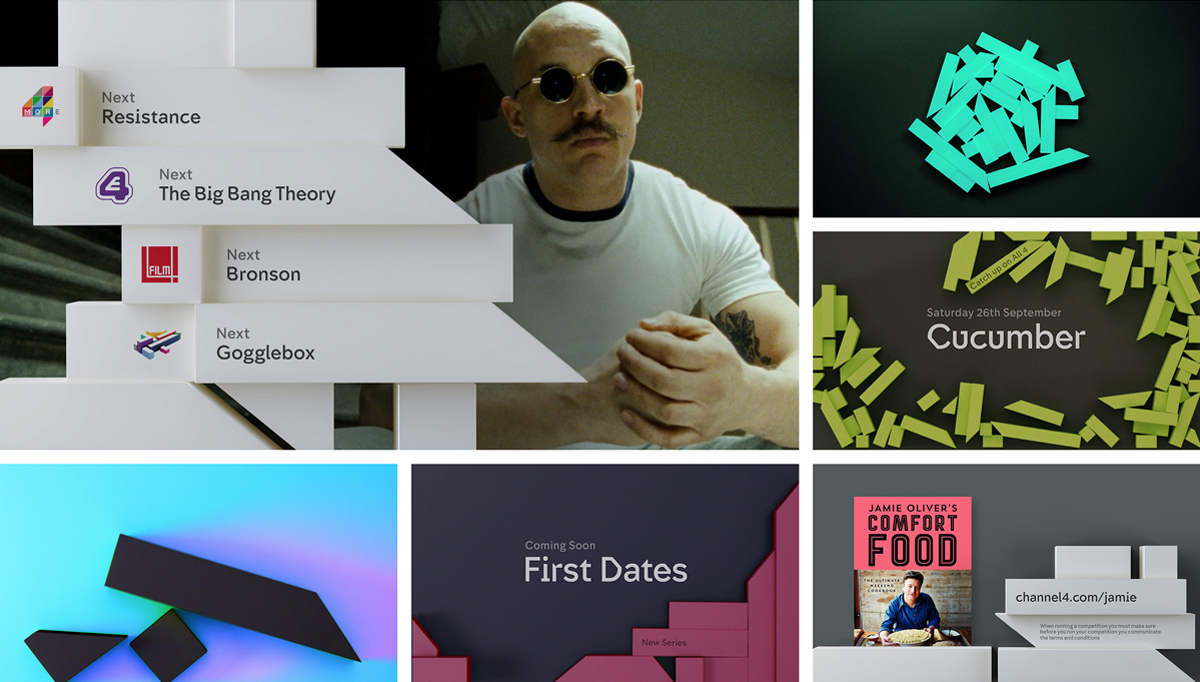 Above and top: Examples of how the new identity will be used on-screen