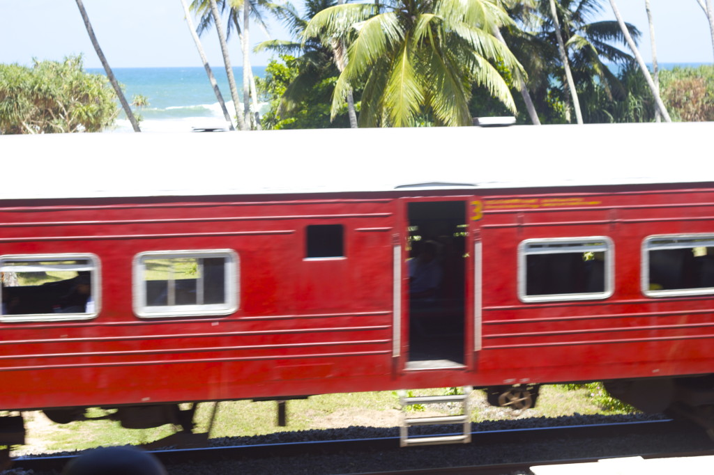 Train near Wunderbar Hotel, Bentota, Sri Lanka