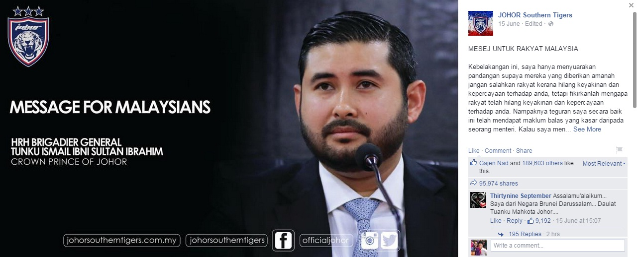 bigbossjohor - 11 Reasons Why The Crown Prince Of Johor Is A TOTAL BADASS