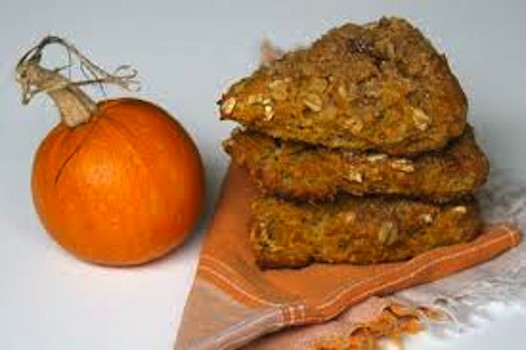Pumpkin scones are delicious with or without icing drizzle.