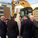 Governor Walker attends the groundbreaking of the new 17 story office building at 833 East Michigan Street in Milwaukee.  6/18/14