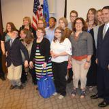 Governor Walker joins Project SEARCH graduates of Waukesha Memorial Hospital's program for their completion ceremony.  6/13/14