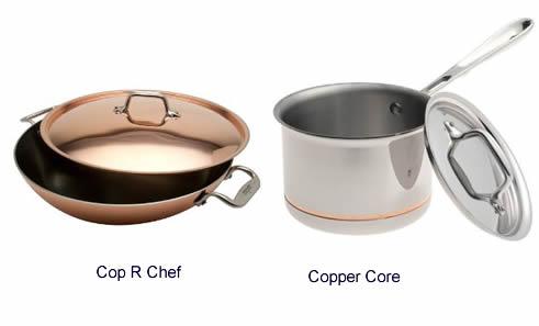 All Clad Cop R Chef versus All Clad Copper Core