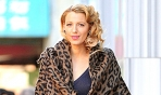 Blake Lively Rocks a Curly Bob, Leopard Coat on the Set of New Woody Allen Film