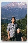 Don Croft and daughter, Nora, at Mount Shasta.