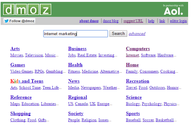 submitting site to dmoz