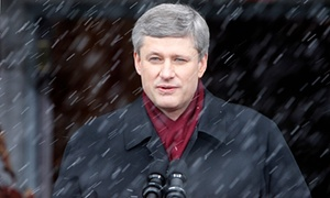 """Harper in 2008. He has been described as """"Cold ... aloof ... ruthless ..."""""""