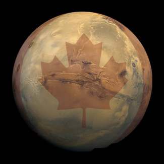 A little bit of Canada on the Red Planet