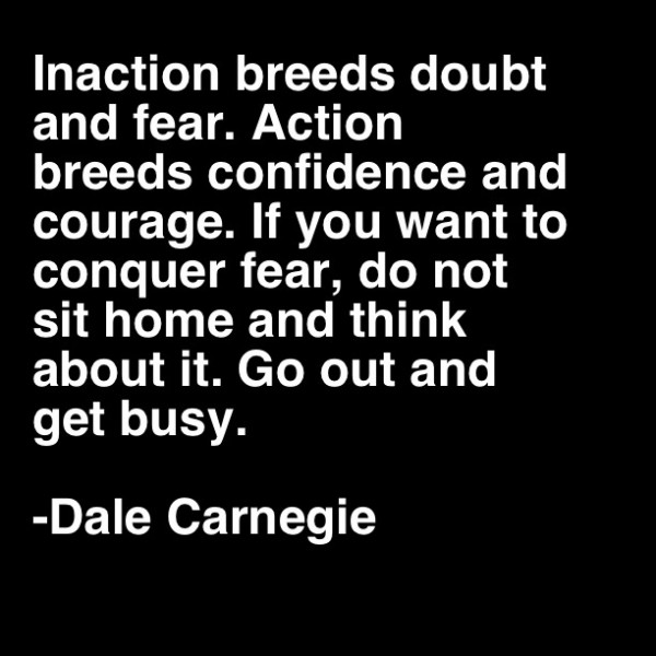 Inaction Breeds Doubt and Fear