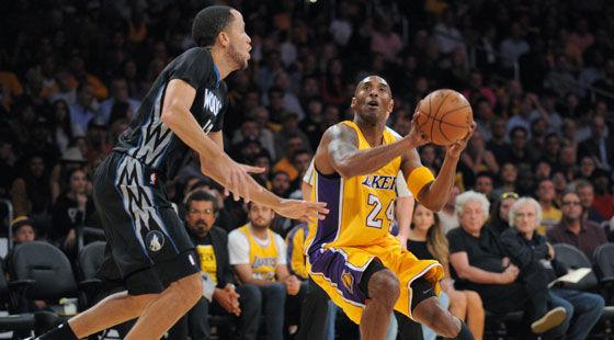 NBA-湖人1分憾负森林狼 低效科比24投换24分