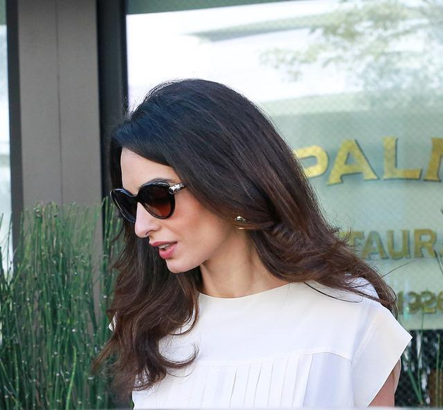 George Clooney and Amal Clooney have lunch