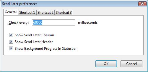 Send Later 1.2.0.0 Preferences Window