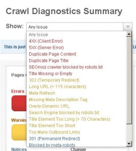 Crawl test SEO Moz
