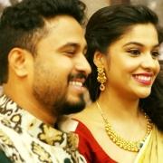 Archana Kavi with Abish Mathew