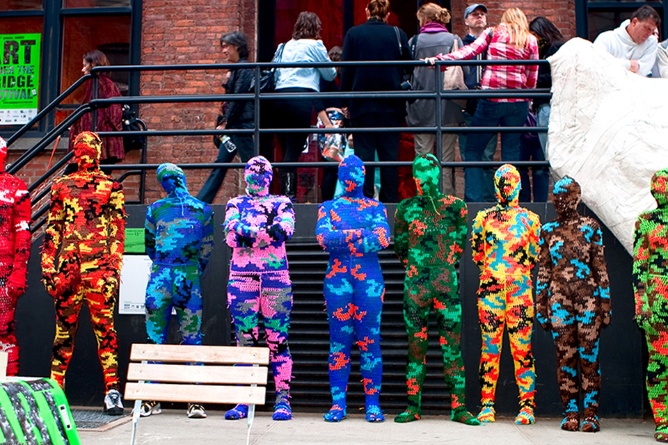The Line Up / Wearable Sculptures: 100% Acrylic Art Guards by Ag