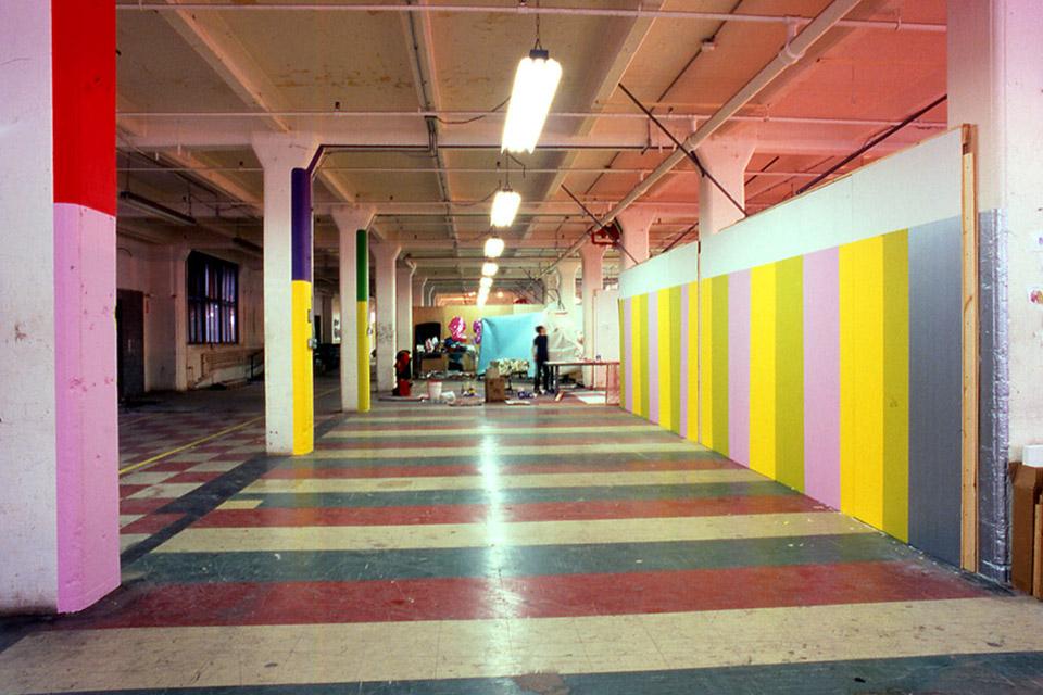 843--Art Under the Bridge Festival, hallway installation at 70 Washington Street, 2002