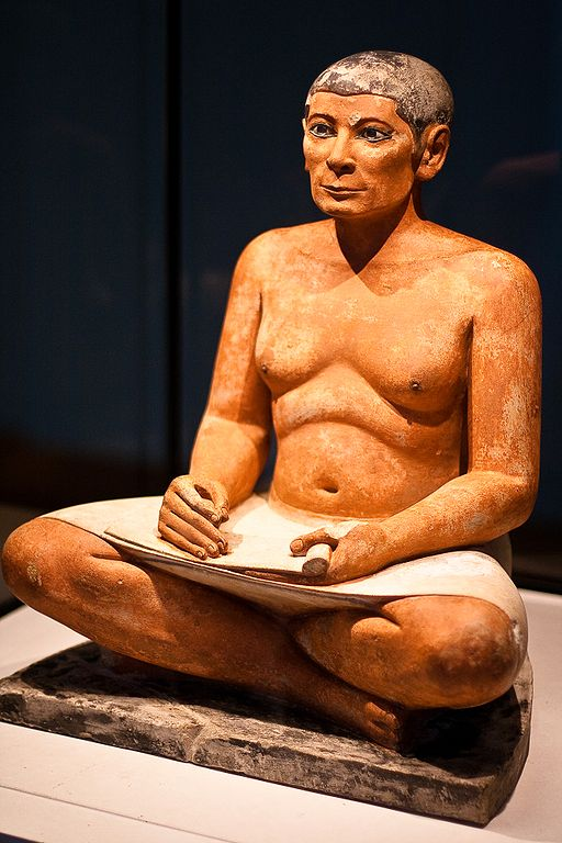 Escriba sentado (fotografía de Gbaotic)