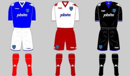 Portsmouth Kit 2010/11 Home Away and Third