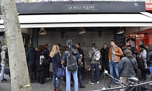 La Belle Equipe, one of the venues targeted by gunmen in Paris on Friday night.