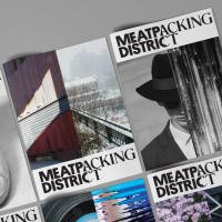 For much of the 20th Century, the Meatpacking District was a gory, gritty place. Today, it's 80 percent commercial and home to some of the chicest hotels and art institutions in town. The identity needed to convey that. It includes a logo, a website, and banners hung in the streets.