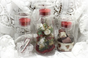 nancy christmas candle jars